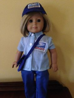 Coolest mailman and mail delivery truck costume mail delivery sale fits american girl or boy doll clothes uniform postal worker mail carrier post sciox Choice Image