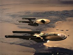 USS Enterprise and USS Excelsior wait , is this army or star wars Uss Enterprise Ncc 1701, Star Trek Enterprise, Excelsior Class, Science Fiction, Deep Space Nine, Star Trek Starships, Sci Fi Ships, Star Trek Original, Star Trek Ships