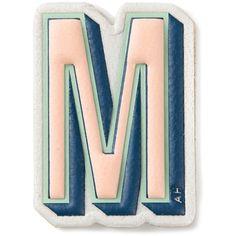 Anya Hindmarch 'M' sticker found on Polyvore