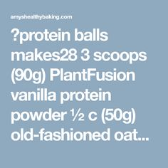 🍋protein balls makes28 3 scoops (90g) PlantFusion vanilla protein powder ½ c (50g) old-fashioned oats (gluten-free, if necessary) 1 tbsp (9g) poppy seeds ½ tbsp (7g) Truvia 1 tsp freshly grated lemon zest (about one medium) 6 tbsp (90mL) freshly squeezed lemon juice (about two medium) 6 tbsp (90mL) water