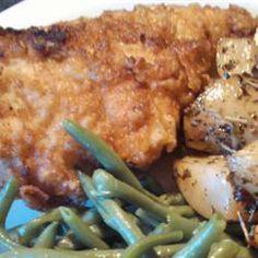 Honey-Brined Fried Chicken Breasts Allrecipes.com