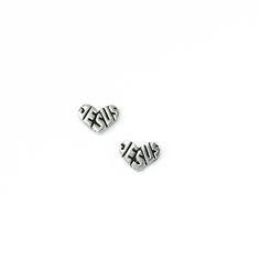 Sterling Silver Heart Earrings - Jesus on SonGear.com - Christian Shirts, Jewelry
