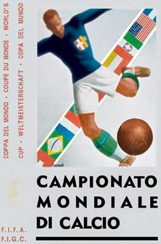 The 1934 FIFA World Cup was the second FIFA World Cup, the world championship for men's national association football teams. Soccer Art, Soccer Poster, Soccer World, World Football, Retro Football, Vintage Football, Football Fonts, Football Things, Football Posters