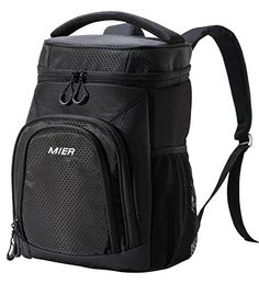 #beachaccessoriesstore MIER Insulated Cooler Backpack Leakproof Soft Cooler for Lunch, Picnic, Hiking, Beach, Park,… #beachaccessoriesstore