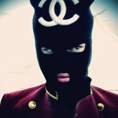 Justin Bieber wears ski mask with Channel logo