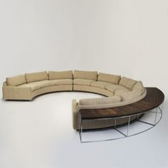 Milo Baughman, Sectional Sofa with Tables for Thayer Coggin, 1972.