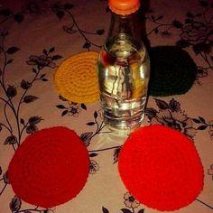 Posavasos de colores ✨ #diseño #crochet #tejeramor