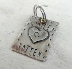 Spoiled Rotten Pet Charm - Pet Tag - Gift for Pet Lovers - Pet accessories - Free shipping by puppypawsandkisses on Etsy