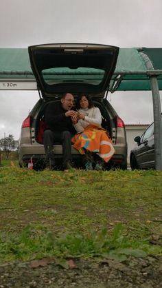 Descansando en el camino. Que buena idea fue comprar un coche familiar