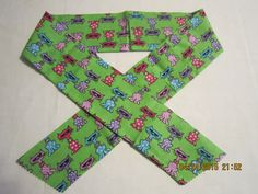 "Extra Wide 3"" Reusable Non-Toxic Cool Wrap / Neck Cooler  - Animal Prints - Cool Cats on Green by ShawnasSpecialties on Etsy"