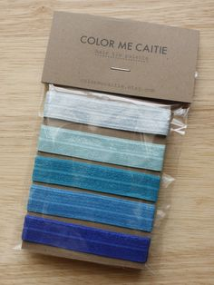 Elastic Hair Ties  blue ombre palette set of 5 by colormecaitie, $5.00