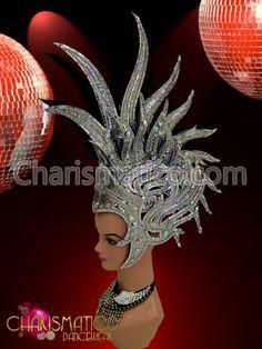 Charismatico Dancewear Store - CHARISMATICO Silver glitter mirror tile trimmed crystal accented Mohawk Diva Headdress, €161.28 (http://www.charismatico-dancewear.com/charismatico-silver-glitter-mirror-tile-trimmed-crystal-accented-mohawk-diva-headdress/)