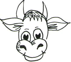 Step 04 cow How to Draw Cartoon Cows / Farm Animals Step by Step Drawing Tutorial