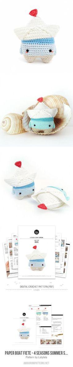 Paper boat Fiete - 4 seasons Summer Special amigurumi pattern