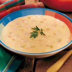 Canadian Cheese Soup - My family loves Canadian bacon, but I don't run across a lot of dishes that call for this pork product. Everyone was thrilled the first time I offered this succulent soup.