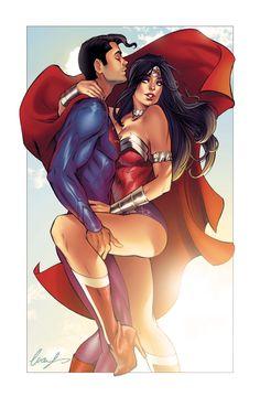 Superman and Wonder Woman by Elias-Chatzoudis.deviantart.com on @deviantART