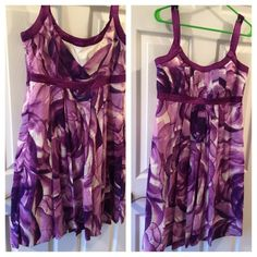 """NWT CK Purple dress size 12 Beautiful gorgeous Calvin Klein Sleeveless dress. Maybe for Easter? Size 12 17"""" across the Bust 31"""" underarm of dress to bottom Zipper side opening. Calvin Klein Dresses Midi"""