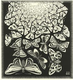 Mariposas by Escher