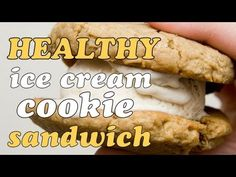 "An ""ice cream cookie"" sandwich using just 2 ingredients, frozen bananas & oatmeal."
