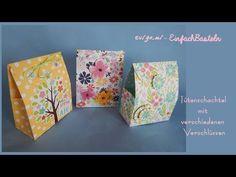 Vorlagen für Evigami-Tüten-Schachtel Facial Tissue, Youtube, Free Stencils, Boxes, Easter Bunny, Basket, Templates, Crafting, Youtubers