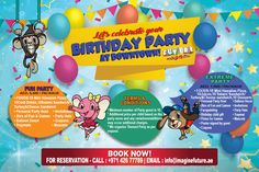 COME AND CELEBRATE YOUR PARTY WITH US at DOWNTOWN!♥  Let us throw you or your friends a birthday party they will not forget plus more exciting activities. VENUE? No worries! We have the best cosy place to celebrate your party! FOODS? We've got the best packages for you!  BOOK NOW! Call : 042677789 Email : info@imaginefuture.ae  #birthdayae #UAEparty #kidsparty #Partypackages #benellicaffe #birthdayparty #foodselection #events #dubaiparty #birthdaydubai #dubai #uae #balloons #themedparty