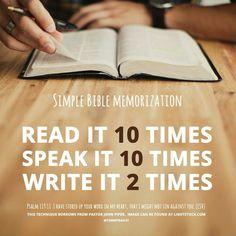 Bible verse memorization.
