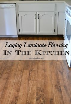 Kitchen Makeover : Laminate Flooring from @FloorandDecor. MyCreativeDays.com