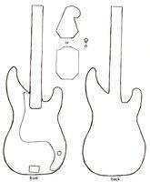 bass guitar plush pattern by starry-eyedkid