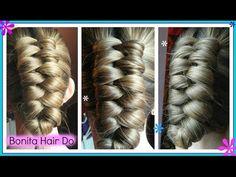 Infinity Dutch Braid / Trenza Infinita / Bonita Hair Do - YouTube Braided Hairstyles Tutorials, Cute Hairstyles, Infinity Braid Hair, About Hair, Gorgeous Hair, Hair Inspo, Hair Makeup, Braids, Hair Color