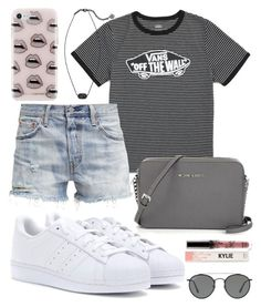 """""""La vibes"""" by jadenriley21 on Polyvore featuring Vans, Levi's, adidas, Ray-Ban, Rebecca Minkoff and Kendra Scott"""