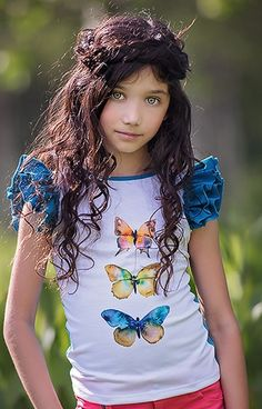 Persnickety Everly Butterfly Girls Tee PREORDER