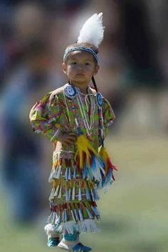 Tiny Tot Jingle Dancer: This little jingle dancer is the epitome of confidence as she competes in the tiny tot division at the 2011 Julyamsh Pow Wow held in Post Falls, Idaho. This event is the largest outdoor event in the Northwest. Native Child, Native American Children, Native American Regalia, Native American Pictures, Native American Beauty, American Indian Art, Native American History, American Indians, American Symbols