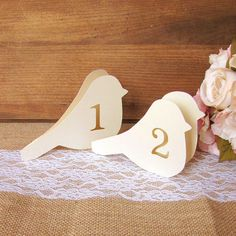 Bird table number Table numbers wedding by DazzlingDaisiesCo