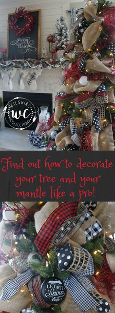 buffalo check christmas how to style a mantle and decorate a tree like a pro! Find out how this Holiday season!
