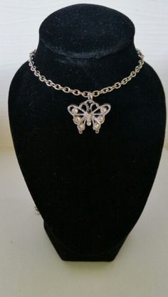 Butterfly with clear rhinestones. AUS $ 6.00