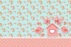 Convite 00 Jardim Encantado Vintage Floral - Kit Completo com molduras para convites, rótulos para guloseimas, lembrancinhas e imagens!