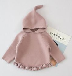 Baby and Becky Cotton Knitted Hooded Sweaters