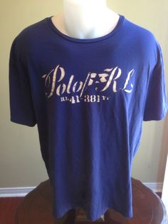 New to MajorDivision on Etsy: Vintage Large Blue Polo Ralph Lauren T-Shirt (15.00 CAD)