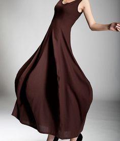Maxi Dresses – Hemp Dresses Maxi Dresses – a unique product by Regenbogen-Fashion on DaWanda