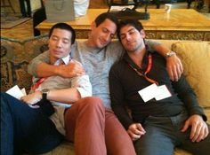 awwww....reggie lee, sasha roiz & david giuntoli. The Grimm Cast