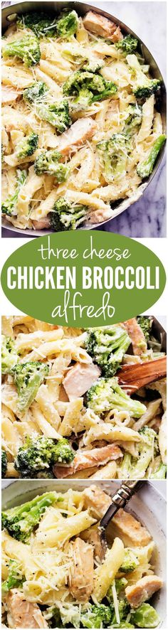 For cooking with Nathalie This Three Cheese Chicken Broccoli alfredo is one of the BEST things you will ever make. The creamy three cheese homemade alfredo is out of this world! Pasta Recipes, Chicken Recipes, Dinner Recipes, Cooking Recipes, Healthy Recipes, Recipe Pasta, Recipe Chicken, Dinner Ideas, I Love Food