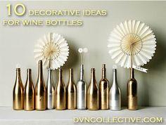 10 ways to reuse + decorate wine bottles