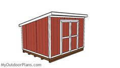 8x8 Lean To Shed Plans Outdoor Shed Plans Free