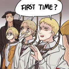 Attack On Titan Comic, Attack On Titan Ships, Attack On Titan Fanart, Aot Funny, Funny Memes, Aot Memes, Levi X Eren, Armin, Anime Demon