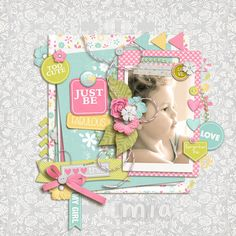 My granddaughter Credits: Just A Girl : Jennifer Labre Designs http://scrapstacks.com/shop/Just-A-Girl.html March Template Freebie: Scrapping with Liz