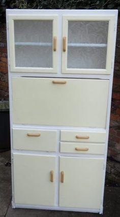 1950u0027s Retro Vintage Kitchen Cabinet Larder Cupboard Dresser Kitchenette  Unit