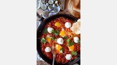 Shakshuka med ägg.   Bild: Emma Eriksson Reciep/food styling: Liselotte Forslin