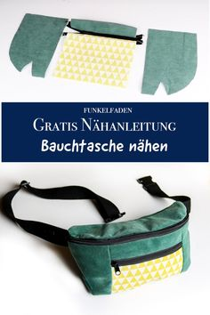 Free Guide Bumbag sewing for beginners with Video Freebook - Tasche - Easy Sewing Sewing Projects For Beginners, Knitting For Beginners, Knitting Projects, Sewing Hacks, Sewing Tutorials, Sewing Patterns, Sewing Tips, Sewing Ideas, Knitting Patterns