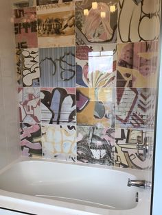 NEW Grafitti Tile from Richcraft Interiors in Waterloo, ON! What a great statement piece for the Kid's Bathroom in this year's Dream Home!