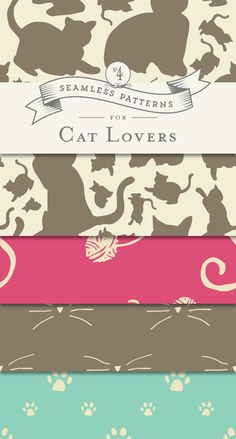 4 FREE Printable Patterns for Cat Lovers